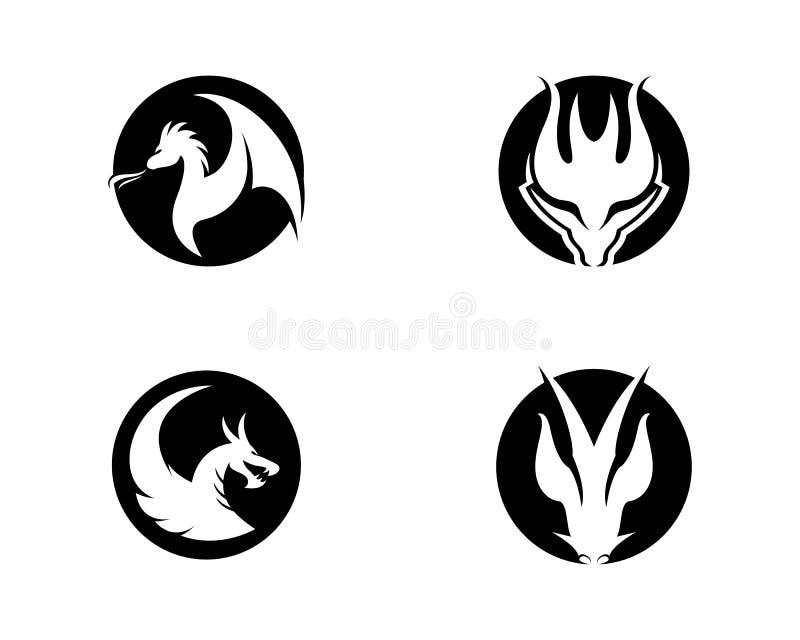 Plantilla principal del logotipo del dragón libre illustration