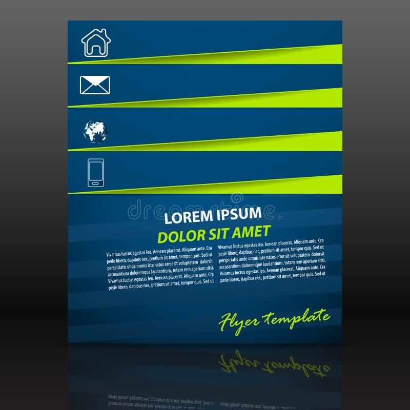 Plantilla profesional del aviador del negocio, diseño de la cubierta o folleto corporativo stock de ilustración