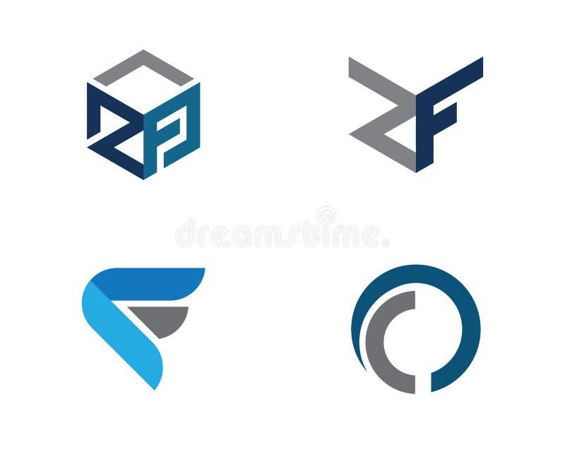 Plantilla profesional del logotipo de las finanzas del negocio de la letra de F stock de ilustración