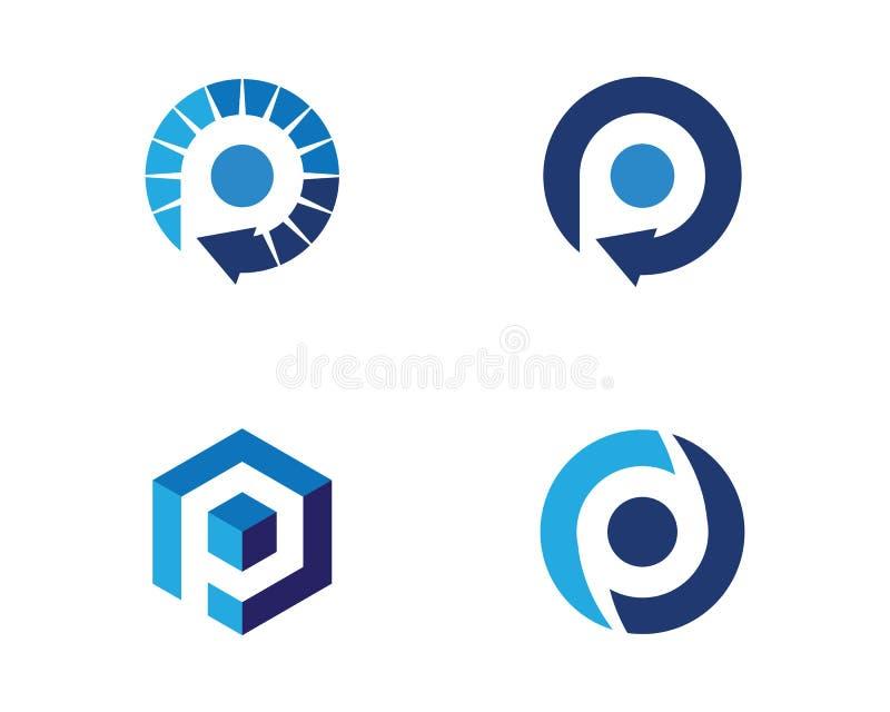 Plantilla profesional del logotipo de las finanzas del negocio de la letra de P ilustración del vector