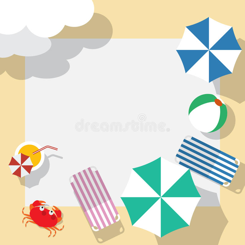 Plantilla que viaja del verano libre illustration