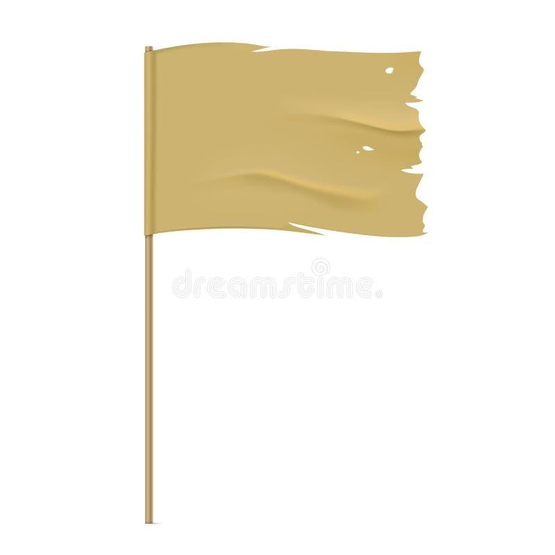 Plantilla rasgada de la bandera del vector ilustración del vector