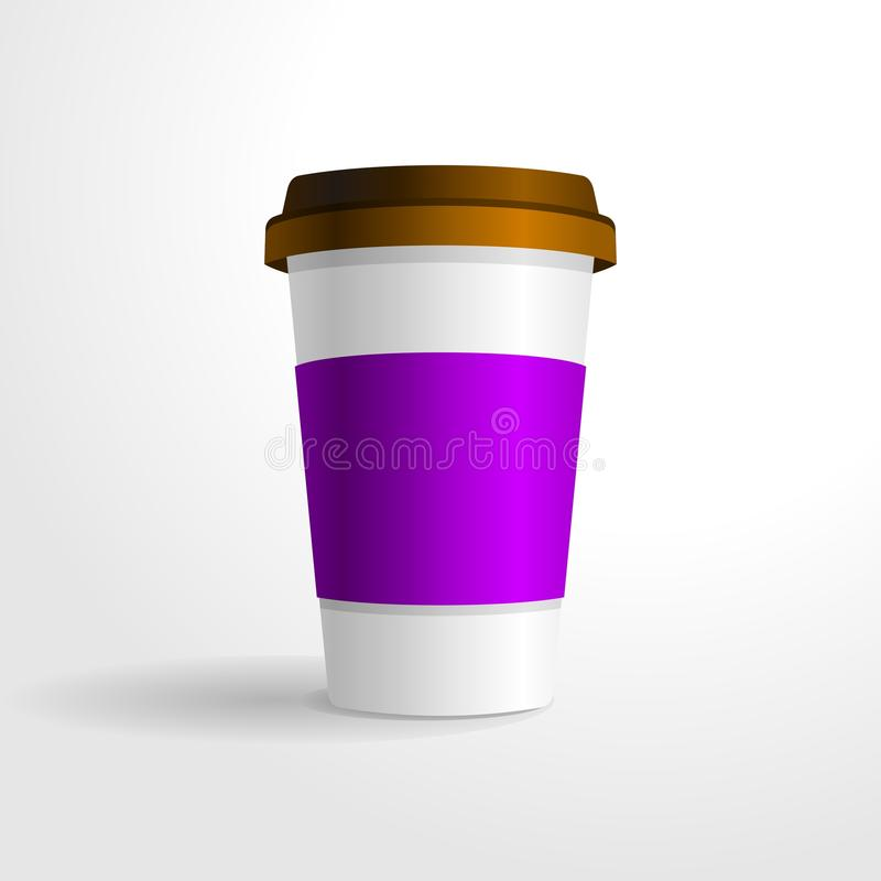 Plantilla realista del vector de la taza de café, para su mofa del diseño para arriba libre illustration