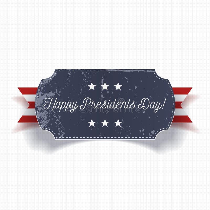 Plantilla realista grande feliz de la bandera de presidentes Day ilustración del vector