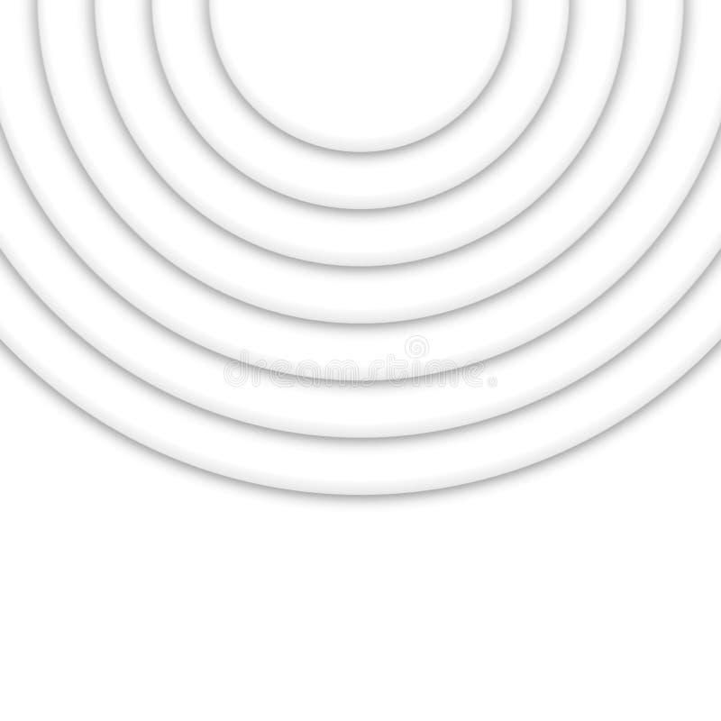Plantilla redonda del diseño de la onda del círculo abstracto Disposición colorida del remolino stock de ilustración