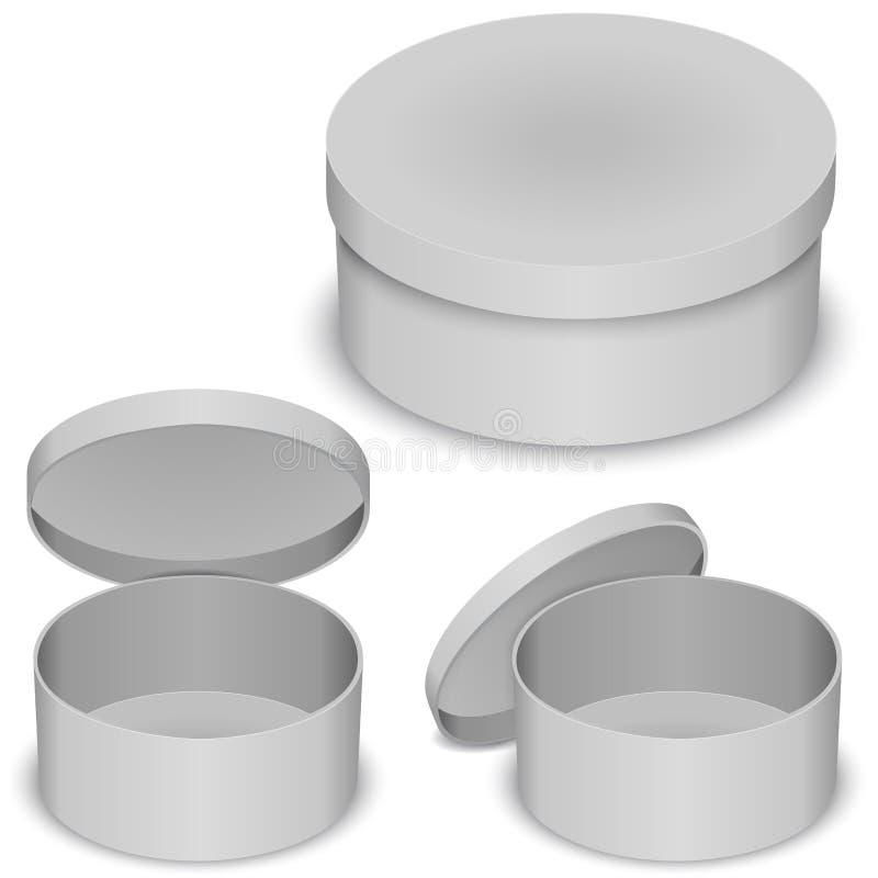 Plantilla redonda del vector de la caja libre illustration