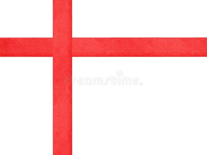 Plantilla roja de la cruz de la cinta aislada fotografía de archivo libre de regalías