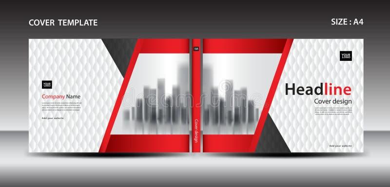 Plantilla roja del diseño de la cubierta para la revista, anuncios, presentación, informe anual, libro, prospecto, cartel stock de ilustración