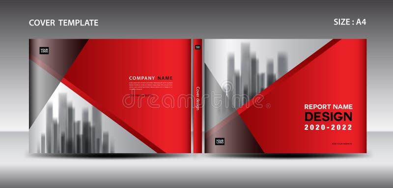 Plantilla roja del diseño de la cubierta para la revista, anuncios, presentación, cubierta del informe anual, cubierta de libro,  ilustración del vector