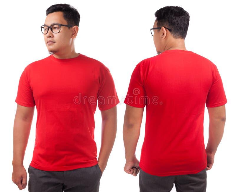 Plantilla roja del dise?o de la camisa foto de archivo libre de regalías