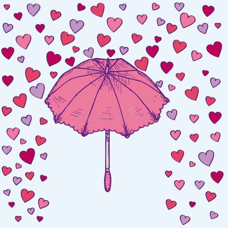 Plantilla romántica ligera colorida stock de ilustración