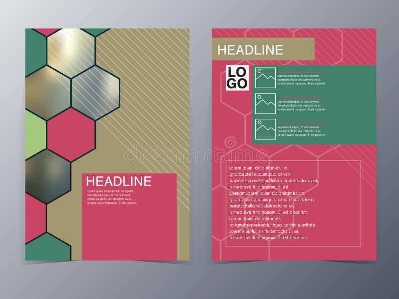 Plantilla rosada del aviador del elemento del diseño de la geometría libre illustration