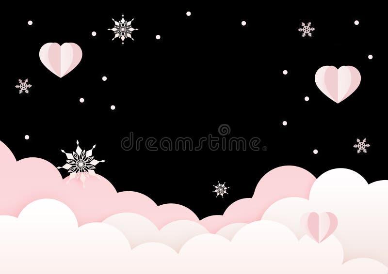 Plantilla rosada y negra del diseño de la tarjeta de felicitación del día de tarjetas del día de San Valentín libre illustration