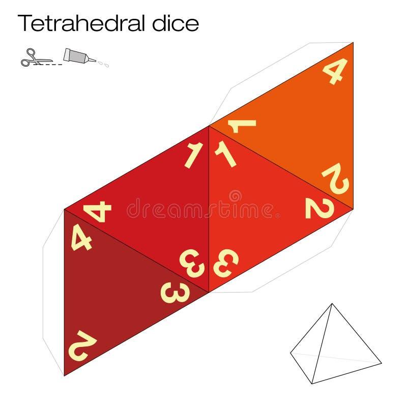 Plantilla Sólida Platónica De Los Dados Tetraédricos Ilustración del ...