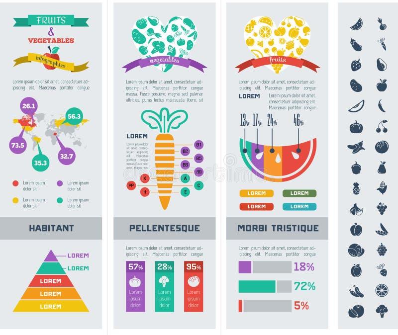 Plantilla sana de Infographic de la comida ilustración del vector