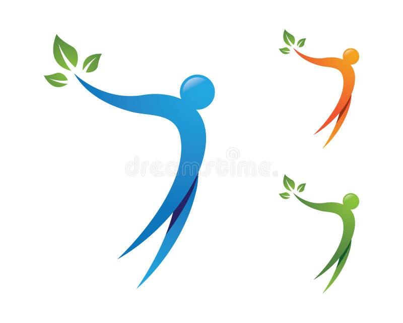 Plantilla sana del logotipo de la vida stock de ilustración