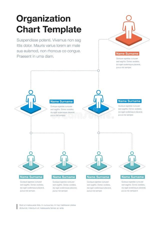Plantilla simple de la carta de la jerarquía de la organización de la compañía con el lugar para su contenido ilustración del vector
