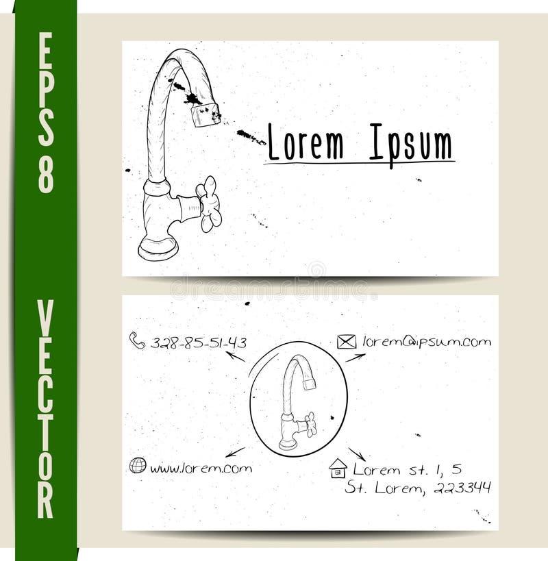 Plantilla simple de la tarjeta de visita ilustración del vector