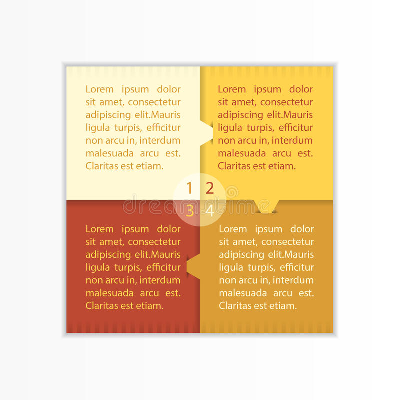 Plantilla simple moderna de la caja cuadrada de Infographic imagen de archivo libre de regalías