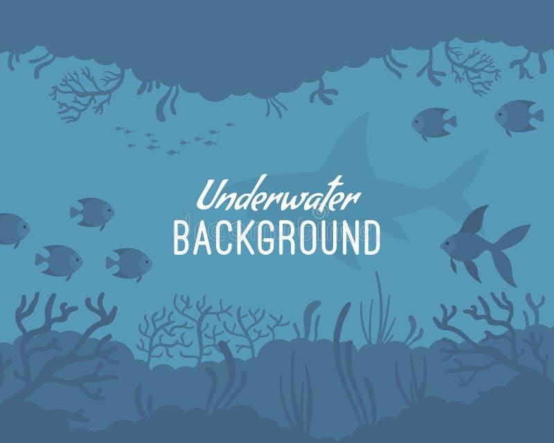 Plantilla subacuática del fondo ilustración del vector