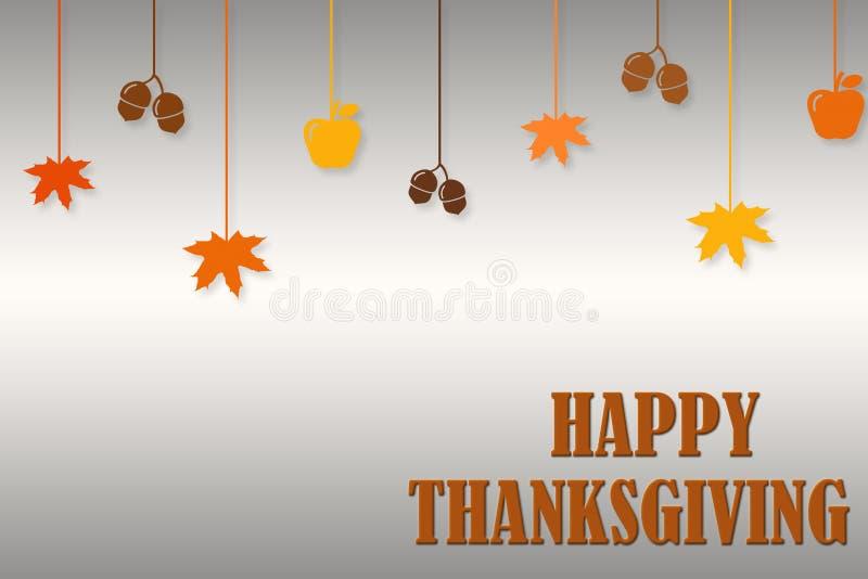 Plantilla tipográfica del diseño del cartel del día feliz de la acción de gracias Gracias plantilla de la tarjeta de felicitación libre illustration