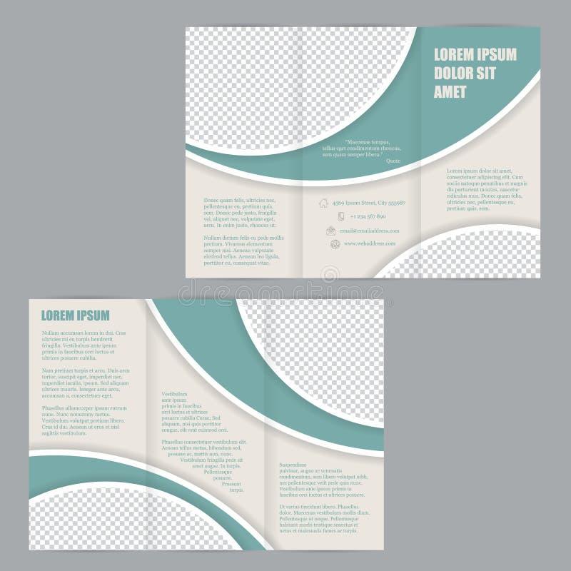 Plantilla triple del diseño del folleto del aviador stock de ilustración