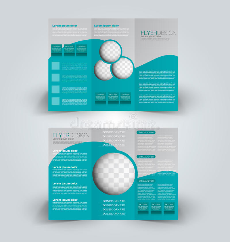 Plantilla triple del prospecto del folleto del negocio ilustración del vector