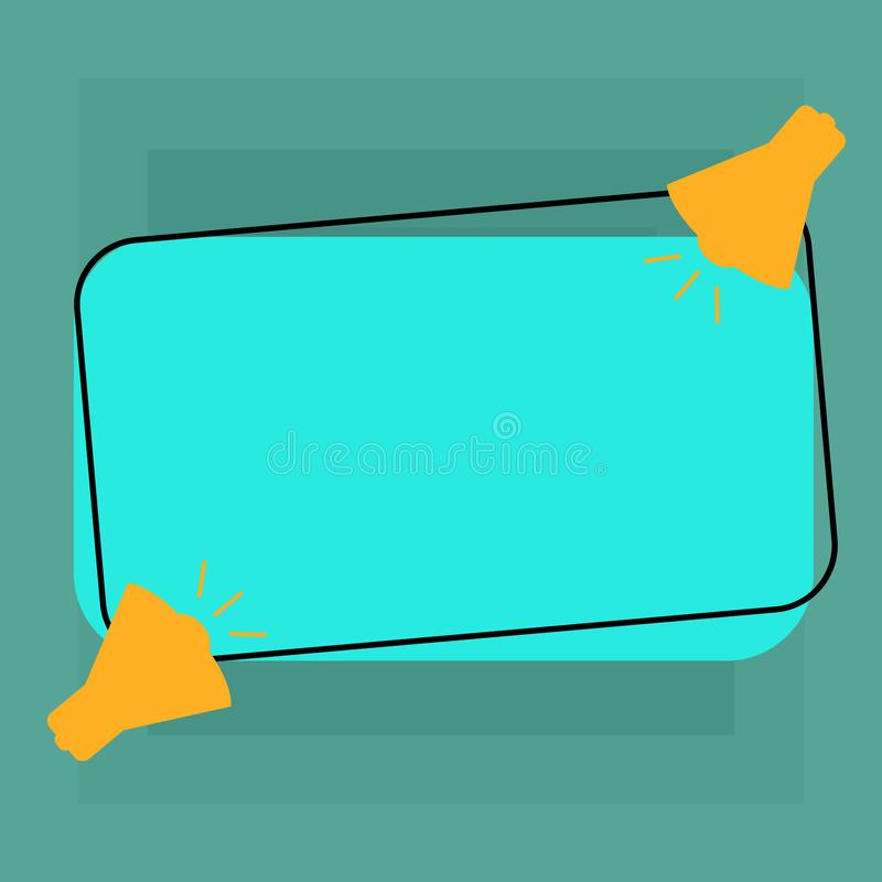 Plantilla vacía del negocio para la disposición para el megáfono del vale dos del cartel de la promoción de la tarjeta de felicit ilustración del vector