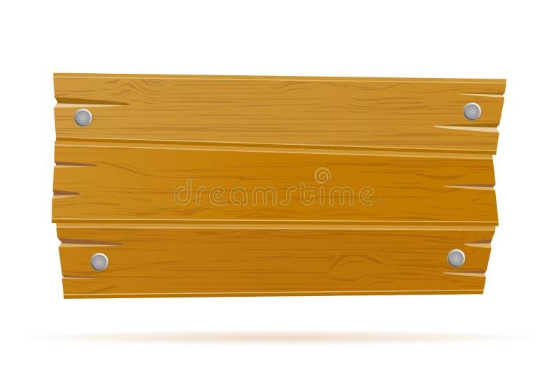 Plantilla vacía del viejo tablero retro de madera del vintage para el ejemplo del vector de la acción del diseño ilustración del vector