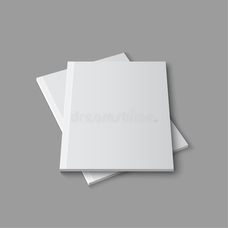 Plantilla vacía en blanco de la revista ilustración del vector
