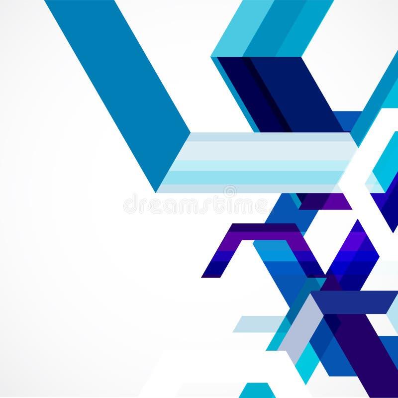 Plantilla, vector y ejemplo abstractos geométricos azules modernos libre illustration