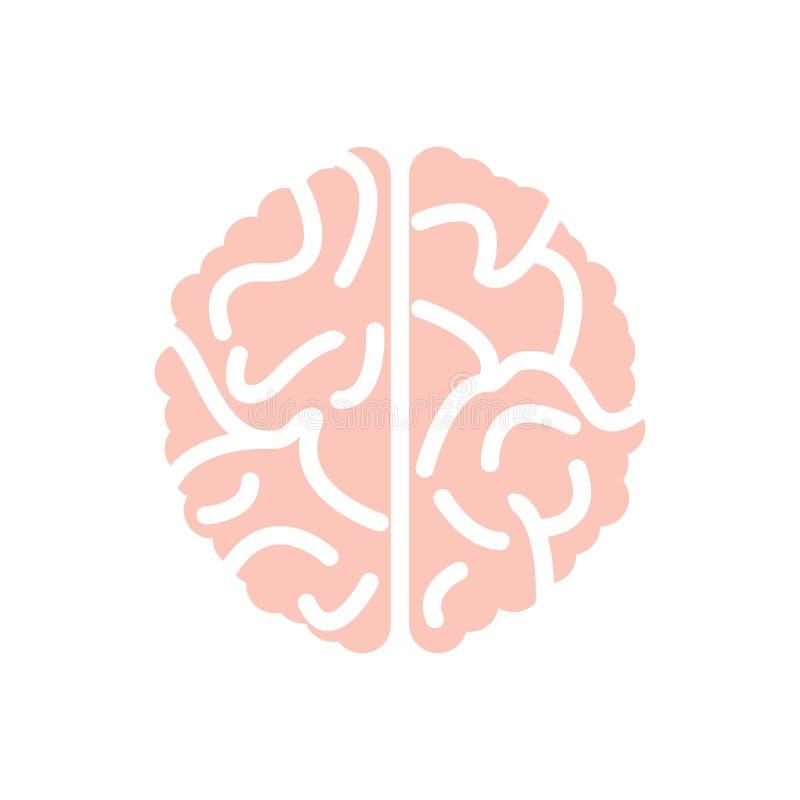 Plantilla vectorial de diseño de la silueta del logotipo del cerebro Brainstorm piensa que el concepto de idea está aislado en bl ilustración del vector