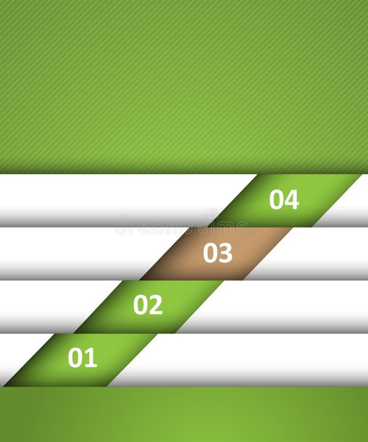 Plantilla verde del sitio web ilustración del vector