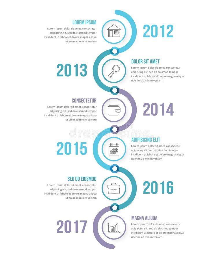 Plantilla vertical de Infographics de la cronología libre illustration