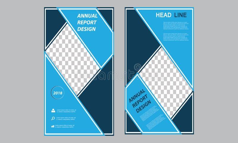 Plantilla vertical del aviador del negocio - ruede para arriba el informe anual del folleto fresco de la bandera - plantilla larg ilustración del vector
