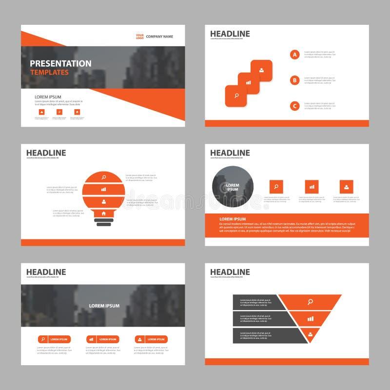 Plantillas abstractas anaranjadas de la presentación, tem de los elementos de Infographic libre illustration