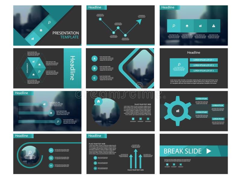 Plantillas abstractas azules de la presentación, elementos de Infographic ilustración del vector