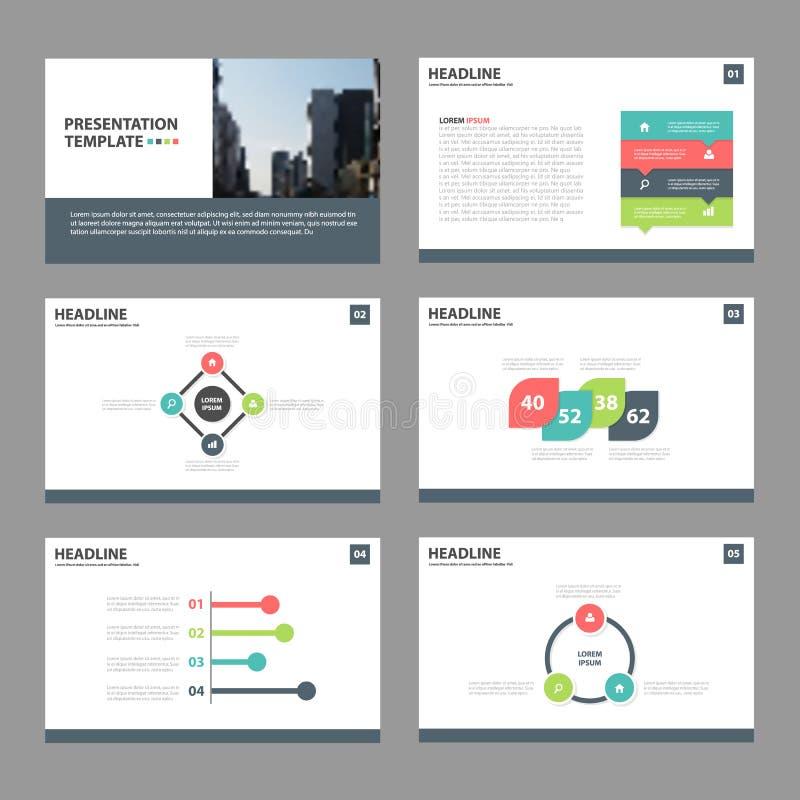 Plantillas abstractas coloridas de la presentación, elementos de Infographic stock de ilustración