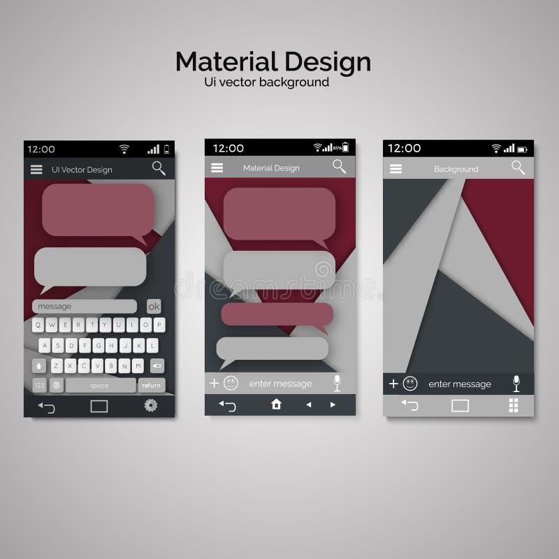 Plantillas abstractas de la interfaz de usuario del papel de las coincidencias sistema del ui m libre illustration