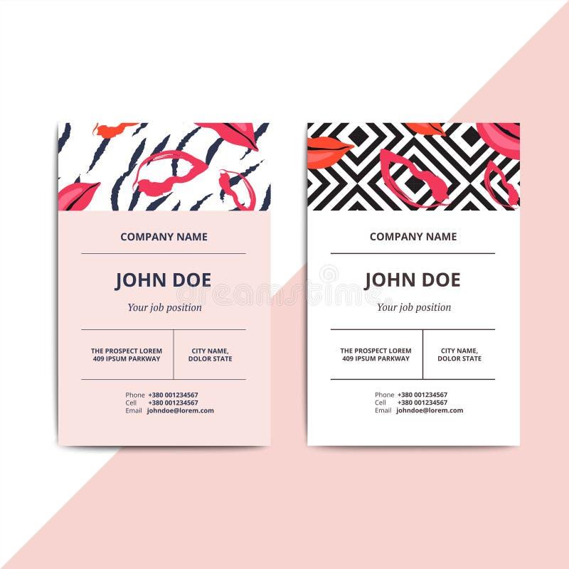 Plantillas abstractas de moda de la tarjeta de visita Belleza de lujo moderna sa ilustración del vector