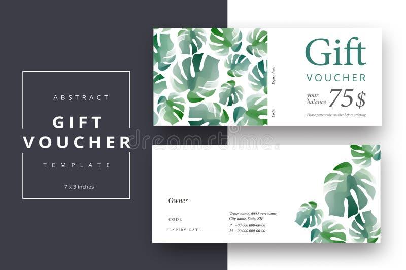 Plantillas abstractas de moda de la tarjeta del vale de regalo Cou moderno del descuento libre illustration
