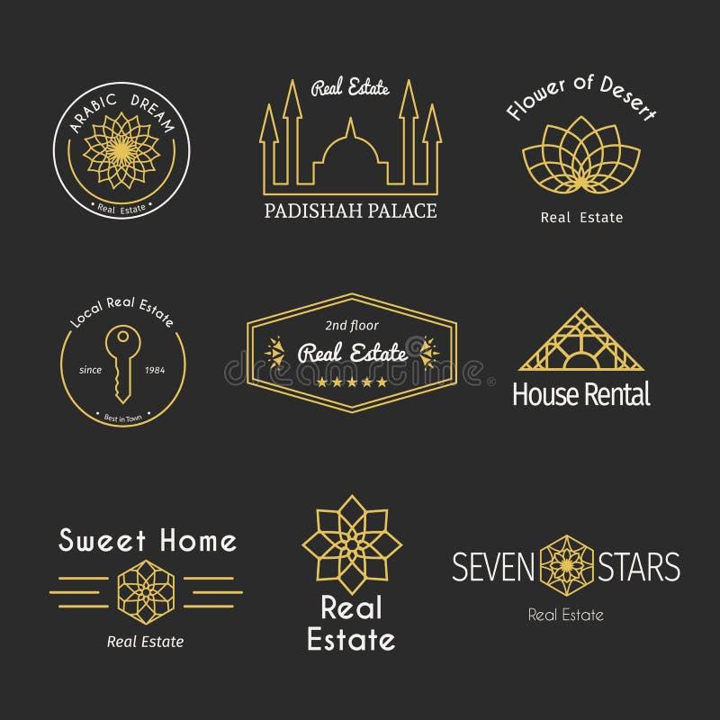 Plantillas asiáticas del logotipo del vector stock de ilustración