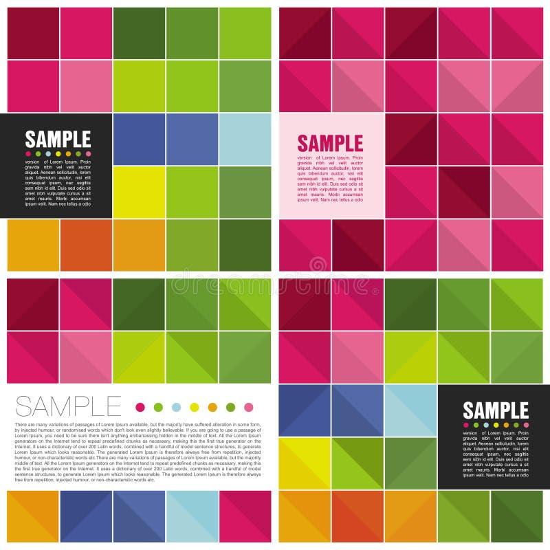 Plantillas cuadradas coloridas fotografía de archivo libre de regalías