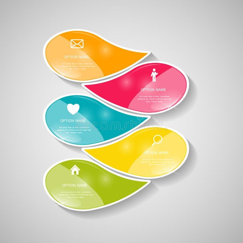 Plantillas de Infographic para el ejemplo del vector del negocio. ilustración del vector
