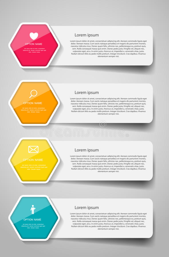 Plantillas de Infographic para el ejemplo del vector del negocio. stock de ilustración