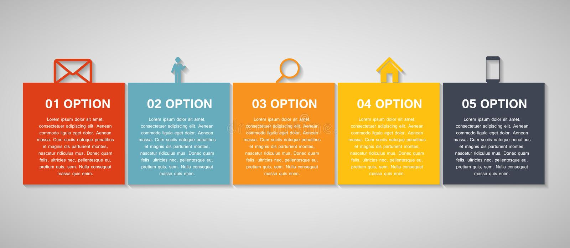 Plantillas de Infographic para el ejemplo del vector del negocio EPS10 ilustración del vector
