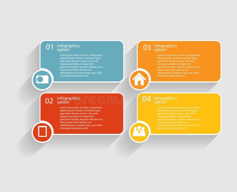 Plantillas de Infographic para el vector del negocio stock de ilustración