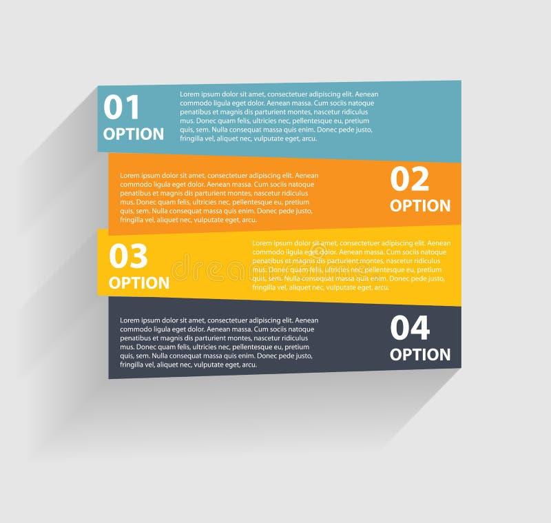 Plantillas de Infographic para el vector del negocio libre illustration