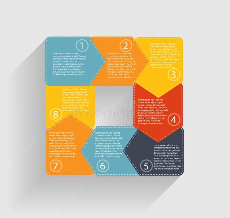Plantillas de Infographic para el vector del negocio ilustración del vector