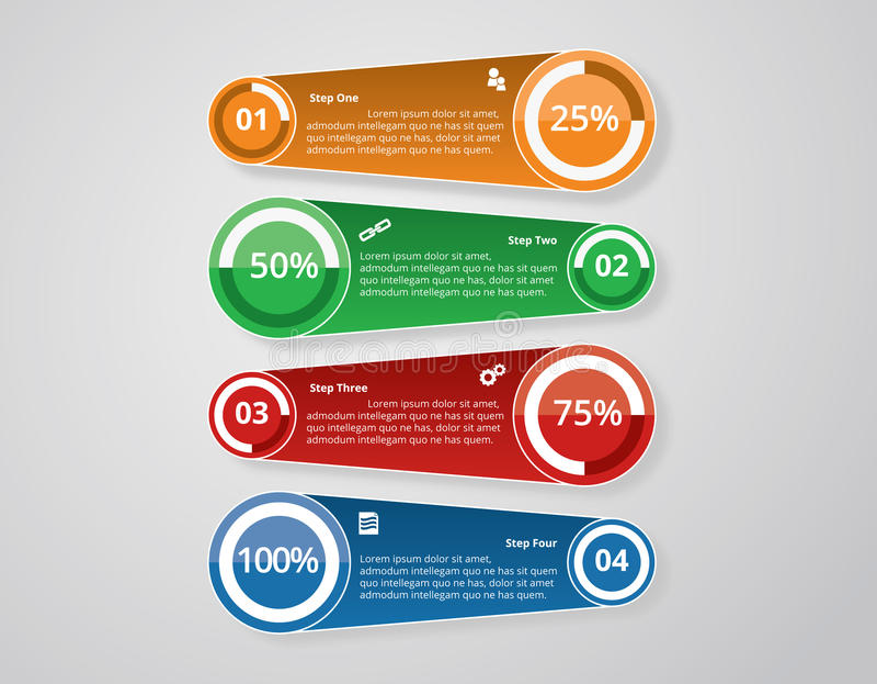 Plantillas de Infographic para el vector del negocio imágenes de archivo libres de regalías